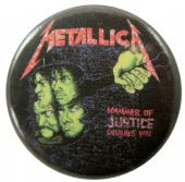 Metallica - 'Hammer of Justice Crushes You' Button Badge